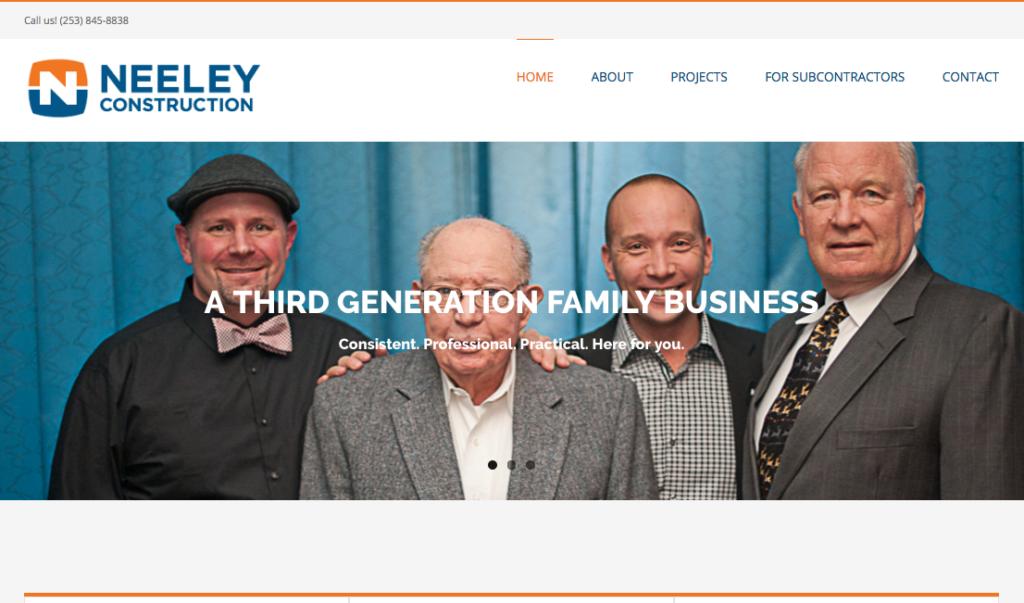 Neeley Construction website